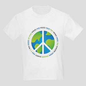 World Peace Sign Kids Light T-Shirt