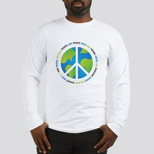 World Peace Sign Long Sleeve T-Shirt