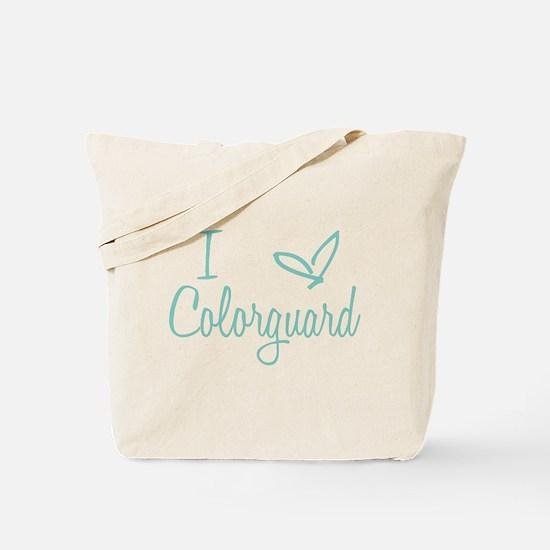 I love Colorguard Tote Bag