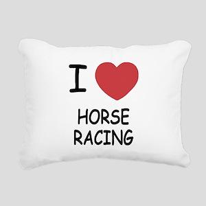 HORSE_RACING Rectangular Canvas Pillow