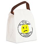 Fun & Games Canvas Lunch Bag