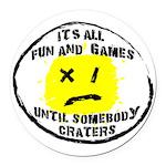 Fun & Games Round Car Magnet