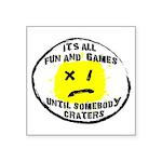 Fun & Games Square Sticker 3