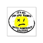 Fun & Games Square Sticker 3