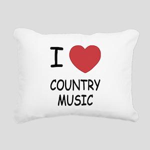 COUNTRY_MUSIC Rectangular Canvas Pillow