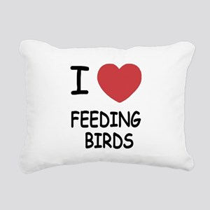 FEEDINGBIRDS Rectangular Canvas Pillow