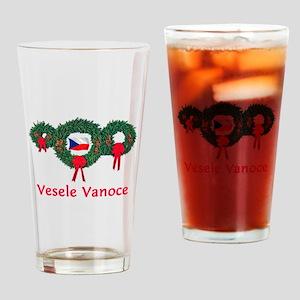 Czech Christmas 2 Drinking Glass