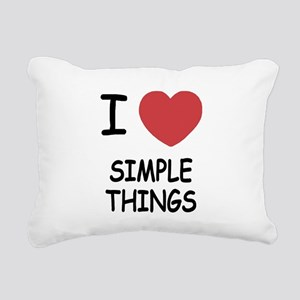 SIMPLETHINGS Rectangular Canvas Pillow
