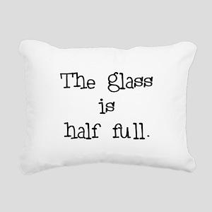 theglassishalffull Rectangular Canvas Pillow
