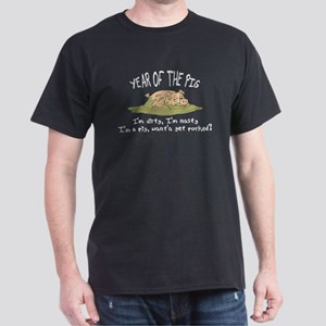 Funny Year of The Pig Black T-Shirt