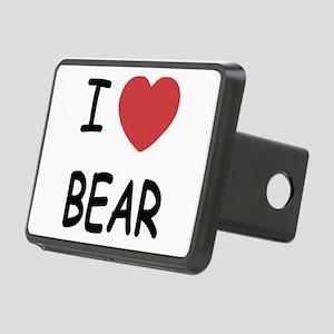I heart BEAR Rectangular Hitch Cover
