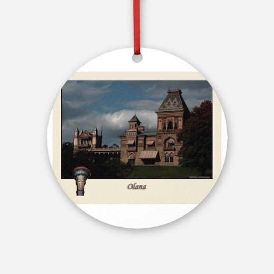 Olana Frederick Church Ornament (Round)