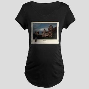 Olana Frederick Church Maternity Dark T-Shirt