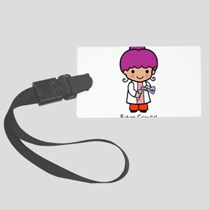 Future Scientist - girl Large Luggage Tag
