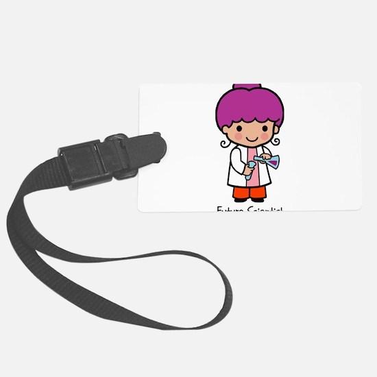 Future Scientist - girl Luggage Tag