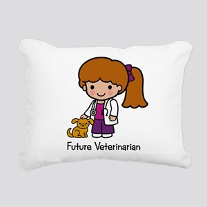 Future Veterinarian Girl Rectangular Canvas Pillow