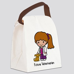 Future Veterinarian Girl Canvas Lunch Bag