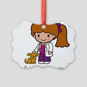 Future Veterinarian Girl Picture Ornament