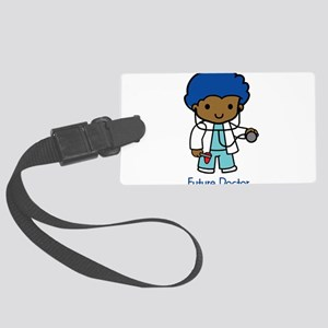 Future Doctor - boy Large Luggage Tag