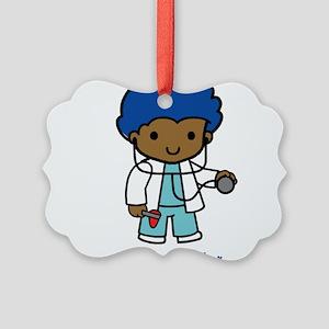 Future Doctor - boy Picture Ornament