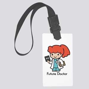 Future Doctor - girl Large Luggage Tag