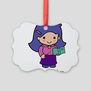 Future Teacher - girl Picture Ornament