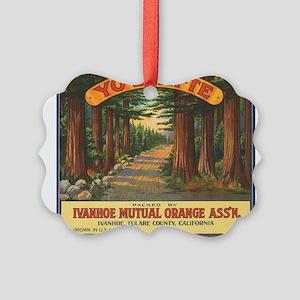 Yosemite Fruit Crate Label Picture Ornament