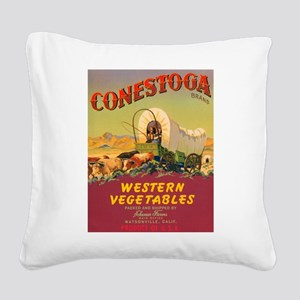 Conestoga Western Vegetables Square Canvas Pillow