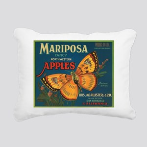 Mariposa Butterfly Fruit Crat Rectangular Canvas P