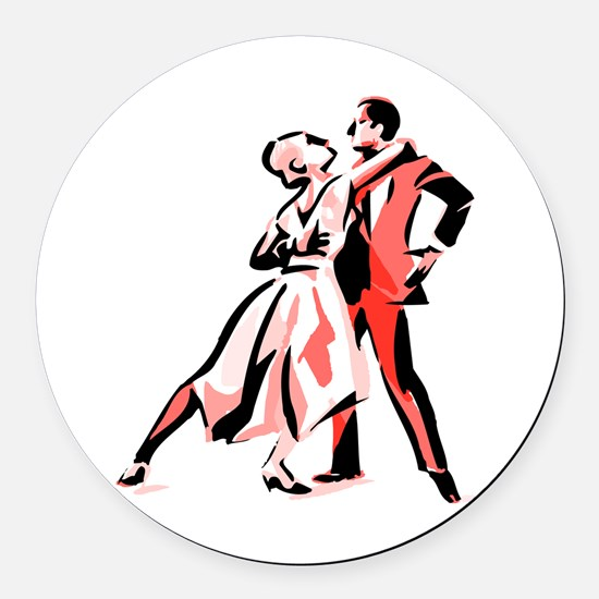 It's Only Natural Dance Round Car Magnet