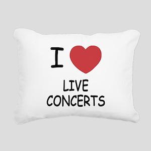 LIVE_CONCERTS Rectangular Canvas Pillow