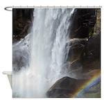 Vernal Falls and Rainbow Shower Curtain