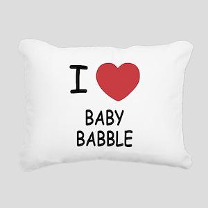 BABY_BABBLE Rectangular Canvas Pillow