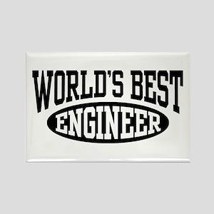 World's Best Engineer Rectangle Magnet