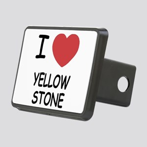 I heart yellowstone Rectangular Hitch Cover