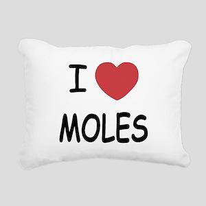I heart moles Rectangular Canvas Pillow
