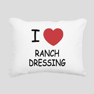 I heart ranch dressing Rectangular Canvas Pillow