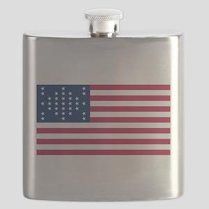 USA - 33 Stars - Ft Sumter Flask