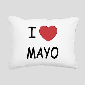 I heart mayo Rectangular Canvas Pillow