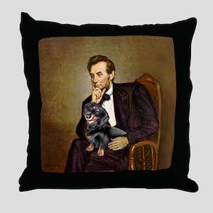 Lincolns Dachshund (BT) Throw Pillow