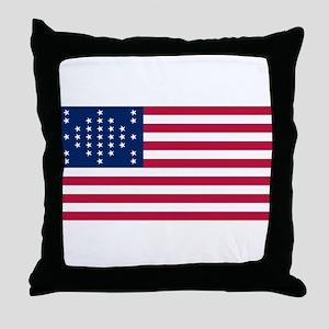 USA - 33 Stars - Ft Sumter Throw Pillow