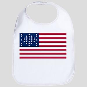 USA - 33 Stars - Ft Sumter Cotton Baby Bib