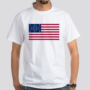 USA - 33 Stars - Ft Sumter White T-Shirt