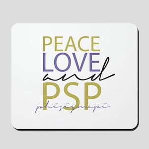 Peace, Love, and PSP Mousepad
