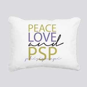 Peace, Love, and PSP Rectangular Canvas Pillow