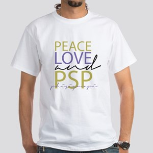 Peace, Love, and PSP White T-Shirt