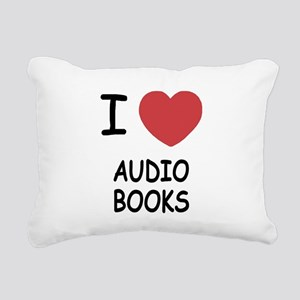 AUDIO_BOOKS Rectangular Canvas Pillow