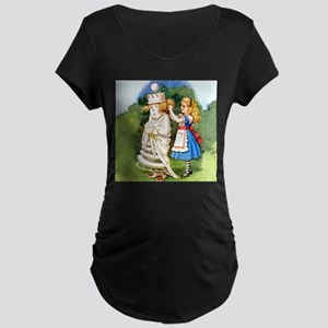 Alice and The White Queen Maternity Dark T-Shirt