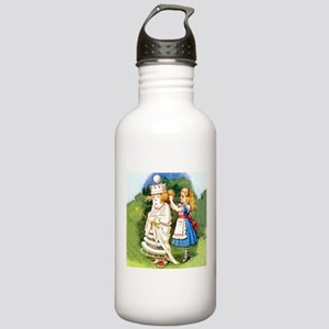 Alice and The White Queen Stainless Water Bottle 1