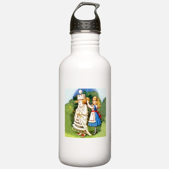 Alice and The White Queen Water Bottle